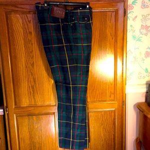 Men's Tartan 5 Pocket Jeans 38x30